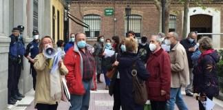 Chamberí, vecinos contra el ruido ante la Junta Municipal, 21OCT2020