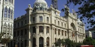 Edificio de Correos en la Plaza Ayuntamiento en Valencia