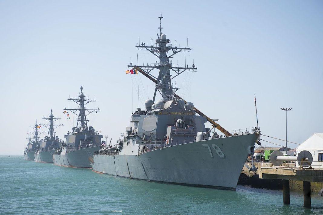 Rota destructores misiles guiados USS 2017