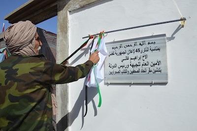 Inauguración en los campamentos saharauis de la sede de UPES