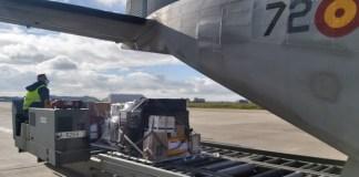 Getafe Aviocar Ala 37 carga material sanitario contra COVID19