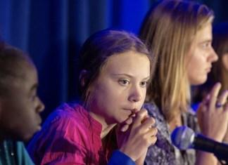 UNICEF/Radhika Chalasani La activista Greta Thunberg participa en una conferencia de UNICEF en Nueva York.