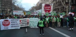 Manifestación antideshaucios en Barcelona