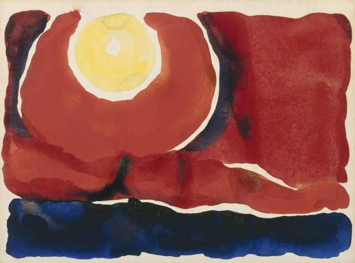 Georgia O'Keeffe. Evening Star No. VI, 1917. Watercolor on paper, 8 7/8 x 12 inches. Georgia O'Keeffe Museum. Gift of The Burnett Foundation. © Georgia O'Keeffe Museum. [1997.18.3]