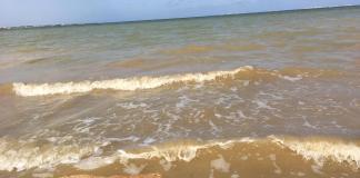 Aspecto del agua en el Mar Menor