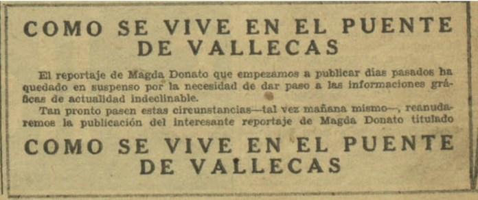 Magda Donato como se vive en Vallecas