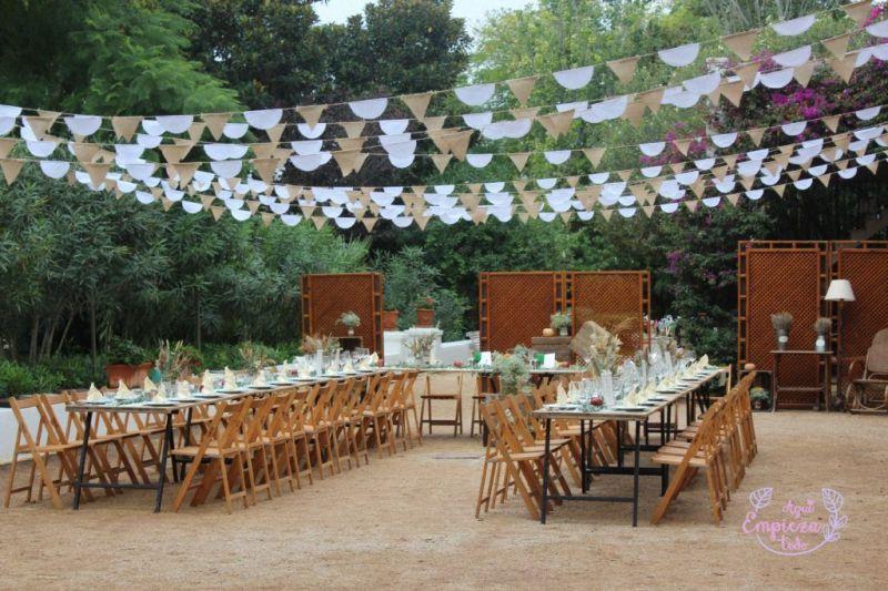 mesas imperiales boda de otoño