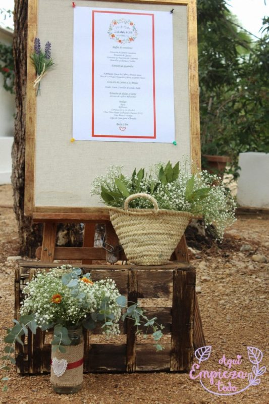 menu boda decoracion