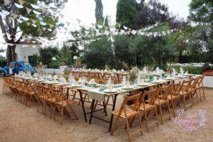 boda al aire libre mesas imperiales decoracion