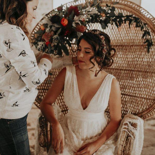 maquillaje novia bohemia valencia