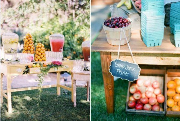 Mesa de frutas boda