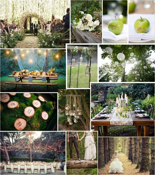 boda en un bosque