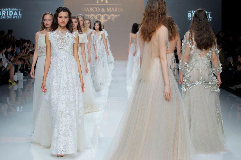 Colección de vestidos de novia de los diseñadores Marco&Maria