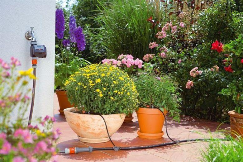 instalar un grifo en la terraza
