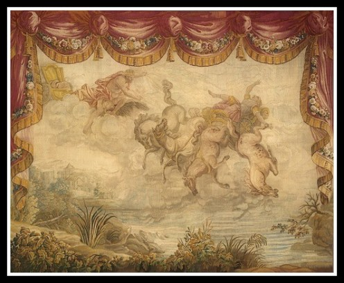 """The Fall of Phaeton"": From Ovid's ""Metamorphoses"" by Gabriel Babonneix (1776)."