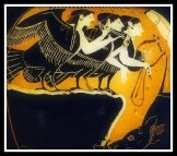 Odysseus and the Sirens. Attic Black Figure. 525 - 475 B.C. Callimanopoulos,NYC, USA.