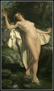 """""""Diana at her bath"""" by Alexandre Jacques Chantron (19th Century)."""