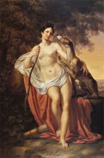 """""""Diana the Huntress"""" by Pelagio Palagi (1830)."""