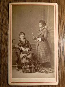 AFROARGENTINOS. Bradley & Ca. Con el mate al estudio. Buenos Aires. Ca. 1870. Colección Cuarterolo.