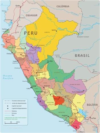 dicas de lima mapa-politico-peru