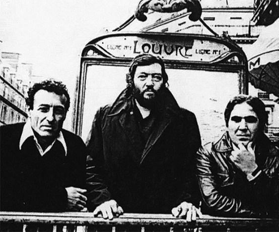 Edgardo-Cantón-Julio-Cortázar-y-Juan-Cedrón-en-París