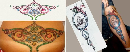 tatuajes fileteadas