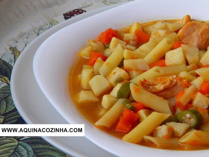 Sopa de Frango com Legumes (versão saudável)