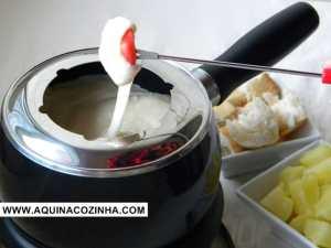 Fondue Universitário de queijo