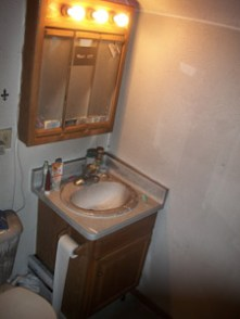 Bathroom Fire Before