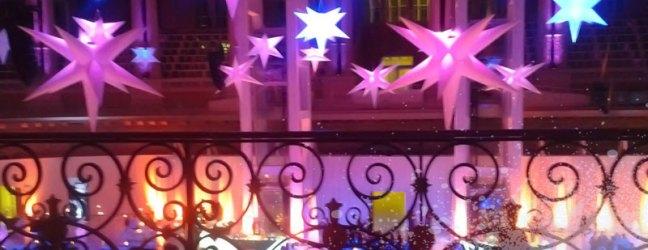 Formas decorativas en lycra: estrellas