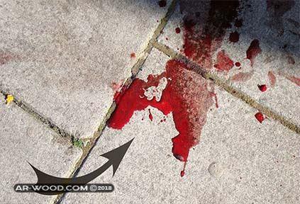 رؤية الدم على الارض في المنام