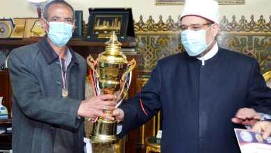 صورة   فريق كرة القدم الخماسية بالأوقاف يحصل على المركز الثالث   ببطولة المصالح الحكومية  وأحسن لاعب وأحسن إداري وهداف البطولة
