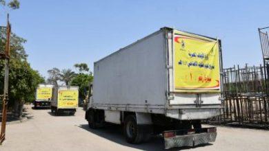 صورة بالفيديو والصور: انطلاق سيارات توزيع لحوم الأضاحي إلى محافظات: ( سوهاج- قنا- الأقصر- أسوان- السويس )