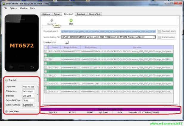 شرح تركيب الروم الرسمي Celkon A107 Plus