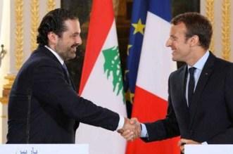 الرئيس الفرنسي يستقبل سعد الحريري