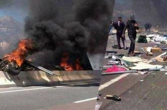 مصرع ستة أشخاص في حادثة سير على الطريق السيار بين أكادير ومراكش