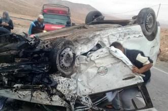 انقلاب سيارة أجرة يُسقط 6 مصابين نواحي طانطان