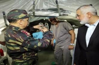 بالصور.. هنية يزور المستشفى المغربي بغزة ويوجه رسالة للملك والمغاربة