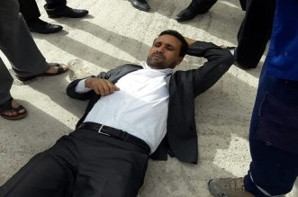 تدخّل أمني يُسقط بنّاجح أرضاً في وقفة أمام محكمة جرسيف