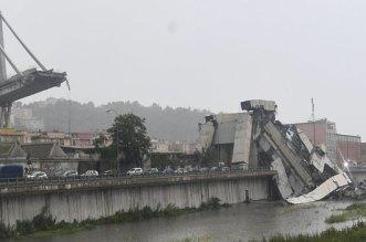 ارتفاع حصيلة انهيار جسر بإيطاليا إلى 22 قتيلا