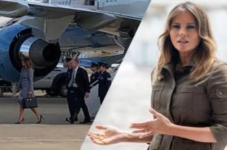"""زوجة ترامب تنجو من كارثة جوية """"وشيكة"""""""
