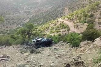 كلميم.. مقتل 3 أشخاص سقطت سيارتهم في منحدر