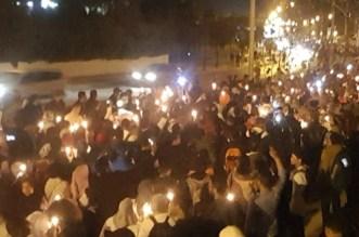 بالصور.. مسيرة الشموع لأساتذة التعاقد تجوبُ شوارع الرباط