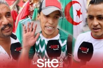 أعلام الجزائر تزين مدينة وجدة المغربية ليلة النهائي: خاطينا السياسة وفتحو الحدود-فيديو