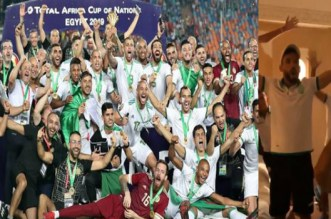 هكذا احتفل لاعبو الرجاء بتتويج الجزائر بطلا لأمم إفريقيا بمصر -فيديو