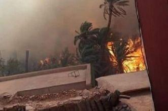 تافراوت.. حريق مهول يلتهم واحة آيت منصور