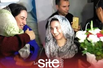 لحظة مغادرة الصحفية هاجر الريسوني سجن العرجات – فيديو