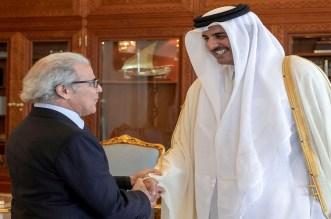 أمير قطر يستقبل والي بنك المغرب عبد اللطيف الجواهري