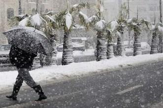 أمطار وثلوج انطلاقا من يوم غد الاثنين