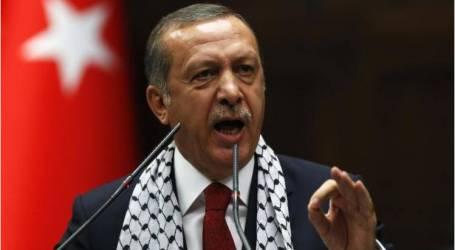 أردوغان يؤكّد وقوفه إلى جانب فلسطين